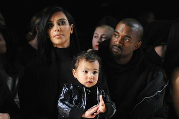 "Kanye West & Baby ""Saint"" Throw 1st Pitch At White Sox Game: Watch"