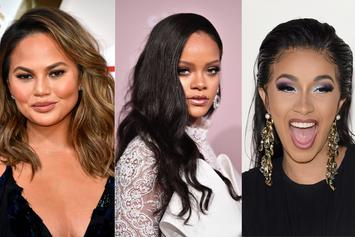 "Chrissy Teigen Says Threesome With Cardi B & Rihanna Would Be ""Ideal"""