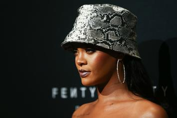 Rihanna Is A Snakeskin Queen At Fenty Beauty Anniversary Celebration