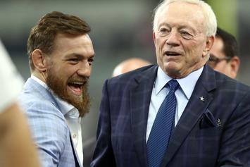 Conor McGregor Parties With Dallas Cowboys, Blesses Players With Whiskey Bottles