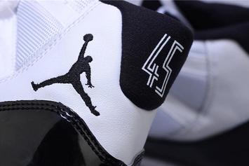 "Air Jordan 11 ""Concord"" Returning With '45' On The Heel: New Images"