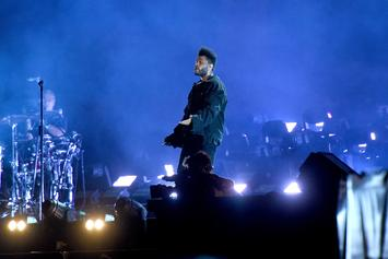 The Weeknd Braves A Serious Rainstorm While Performing In Mexico