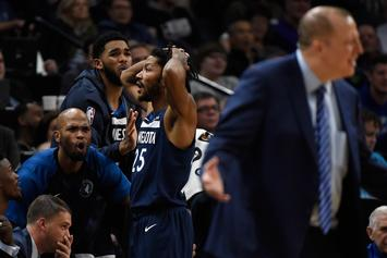 "Karl-Anthony Towns Asked To Be Subbed Out, Announcer Questions His ""Heart"""