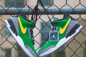 "Air Jordan 3 Tinker ""Oregon Ducks"" PE Surfaces: First Look"