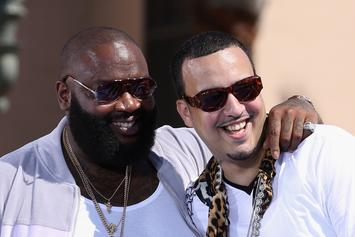Rick Ross, Paris Hilton & French Montana Post Up In Luxurious Selfie