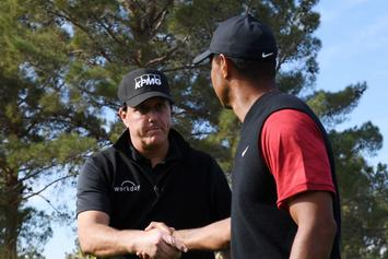 Tiger vs. Phil: Mickelson Loses $200,000 Bet On First Hole