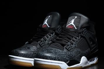 "Black ""Laser"" Air Jordan 4 Releasing In January: New Images"