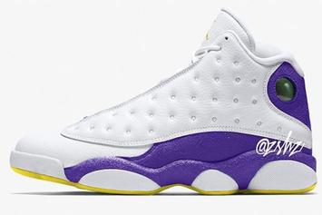 "Air Jordan 13 ""Lakers"" Colorway Rumored For 2019"