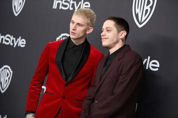 Pete Davidson Parties With MGK After Golden Globes, Leaves With Kate Beckinsale