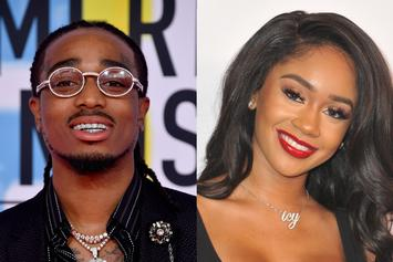 Quavo Gifts Saweetie A $75K Iced Out Snowflake Chain For Christmas