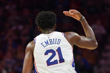 Joel Embiid Invites Young Fan To Sit On His Lap During Blowout Victory