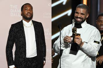 "Meek Mill & Drake Look Like Mob Bosses For ""Goin' Bad"" Video Shoot"