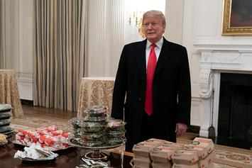 Trump Caters McDonald's, Wendy's & Burger King For Clemson Tigers