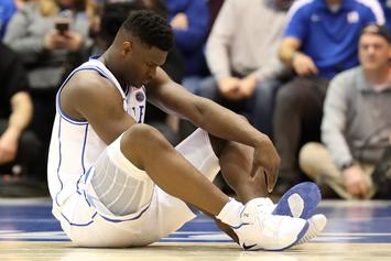 "Zion Williamson's Injury Described As ""Mild Knee Sprain"""