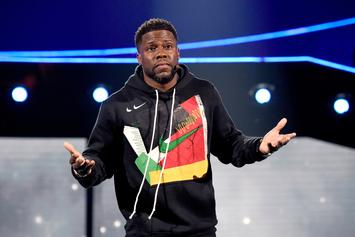 Kevin Hart Holds Rainbow Flag As An Erected Statue Ahead Of The Oscars