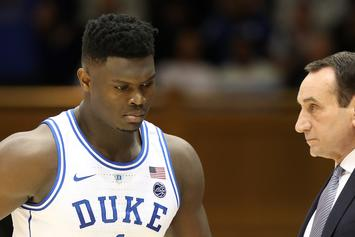 Zion Williamson Of Duke To Miss Tonight's Game With Knee Injury: Report