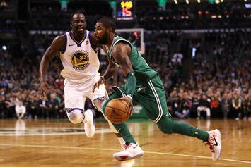 "Kyrie Irving Says ""Long Plane Ride"" Helped Propel Celtics To Win Over Warriors"