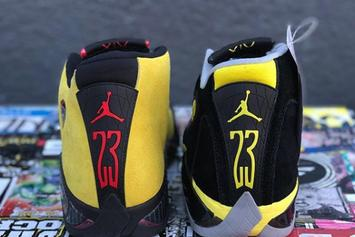 "Air Jordan 14 Sample Emerged In Yellow ""Lamborghini"" Colorway"