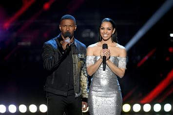 Jamie Foxx Shares iHeartRadio Music Awards Stage With Daughter Corinne Foxx