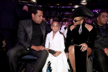 "Beyonce & Jay Z's Daughter Blue Ivy Cracks Some ""Corny Jokes"" With Tina Knowles"