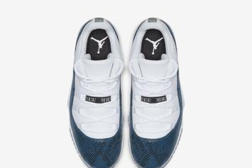 "Air Jordan 11 Low ""Blue Snakeskin"" Official Images, Release Details Announced"