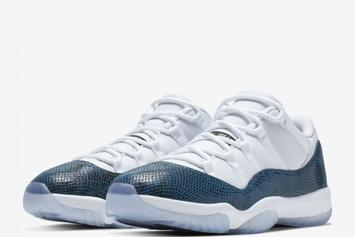 "Air Jordan 11 Low ""Blue Snakeskin"" Drops On Friday: Store List"