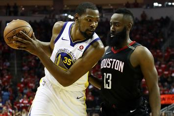 "Kevin Durant On James Harden Chasing Fouls: He's ""Not Cheating The Game"""