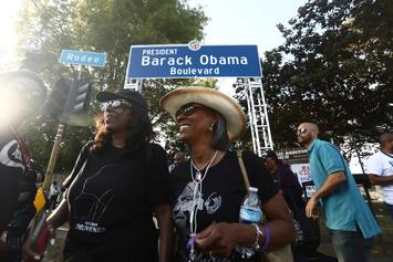 "Los Angeles Street Renamed ""Obama Boulevard"" In Honor Of Barack Obama"
