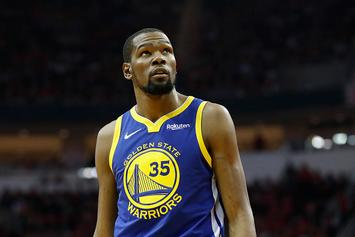 "Kevin Durant Suffered ""Mild"" Calf Strain, Could Return For West Finals: Report"