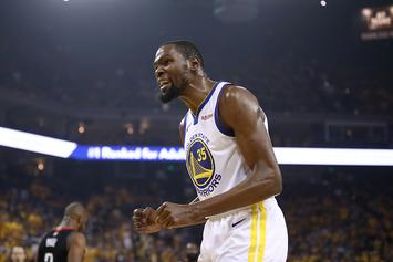 Warriors Kevin Durant Travelling With Team To Toronto For Games 1 & 2
