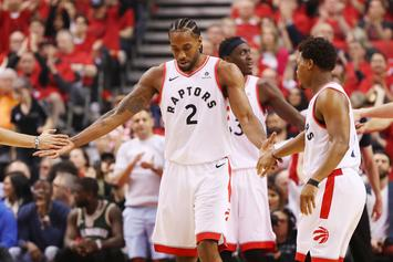 """Kawhi Leonard Honored With """"King Of The North"""" Mural In Toronto"""