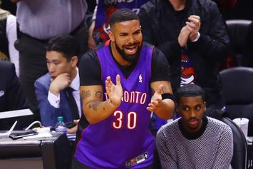 "Drake Offers To Fix His ""Twin"" Fred VanVleet's Chipped Tooth After Game 4"