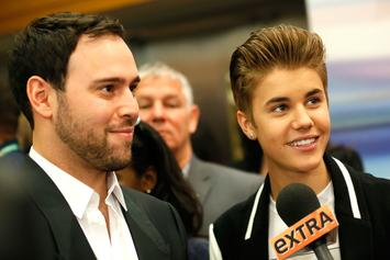 Justin Bieber Gifts Manager Scooter Braun With A Framed Shirtless Photo Of Himself