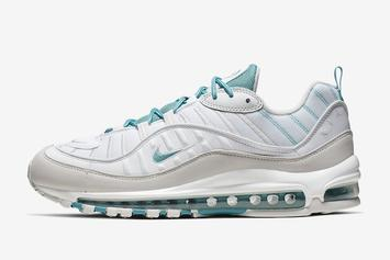 Nike Air Max 98 Appears In Clean Sail & Teal Model: Detailed Look