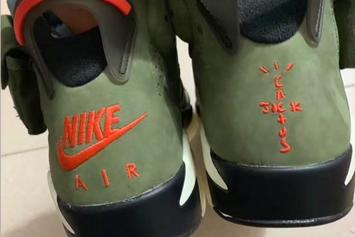 Travis Scott x Air Jordan 6 Releasing In All Sizes: New Photos