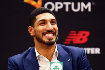 Enes Kanter Hilariously Dons Full Celtics Kit While Playing Little Kids: Watch