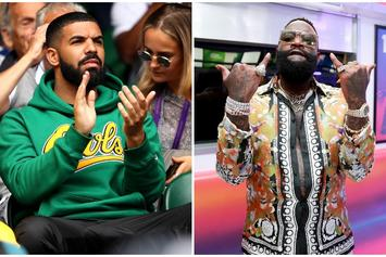 "Drake & Rick Ross Shoot Music Video For ""Money In The Grave"""