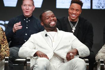 50 Cent Urges Emily B To Keep Fabolous At Home During His Pool Party
