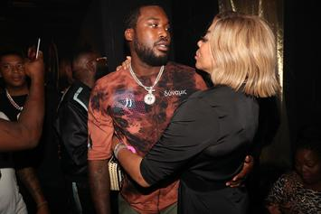 Meek Mill & Wendy Williams Share Very Awkward Kiss At Rick Ross' Party