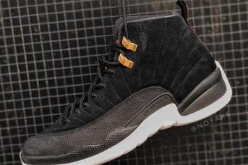 """Air Jordan 12 """"Reverse Taxi"""" Slated To Release This Fall: In-Hand Look"""