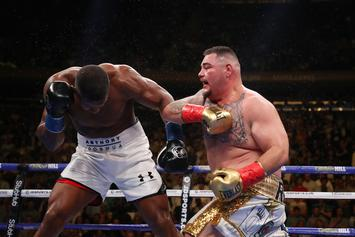 Andy Ruiz Playfully Smirks At Anthony Joshua During Stare Down: Watch