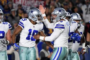 Dak Prescott & Amari Cooper Clown On The Eagles After TD Pass: Watch