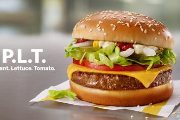 """McDonald's Joins Beyond Meat Wave With New """"P.L.T"""" Burger"""