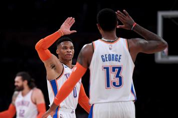 Russell Westbrook & Paul George Reunite During Preseason, Fans React