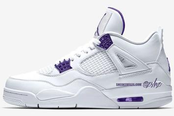 "Air Jordan 4 Retro ""Court Purple"" Receives Updated Release Date: Details"