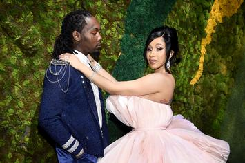 Cardi B Gets Offset To Reluctantly Take Shots With Her For Her Boozy Birthday