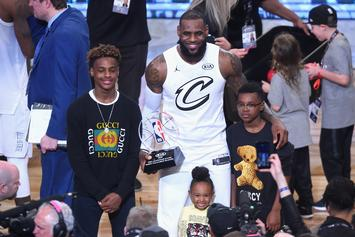 Bronny James Jr Gets LeBron Pumped With Scintillating Dunk: Watch