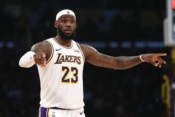 LeBron James Hypes Up Lakers Fans With Some Opening Night Excitement