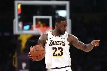 LeBron James Celebrates Lakers Win By Paying Tribute To The Fans