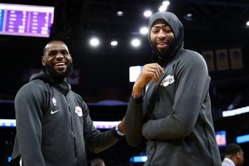 LeBron James & AD Channel Their Football Skills Prior To Lakers Game: Watch